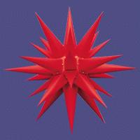 Herrnhuter Stern für Innen rot 40 cm